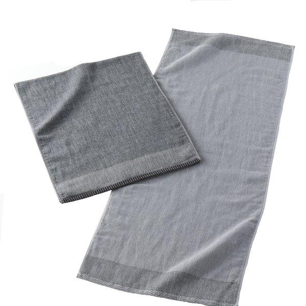 Bincho Charcoal Shijima Hand Towel