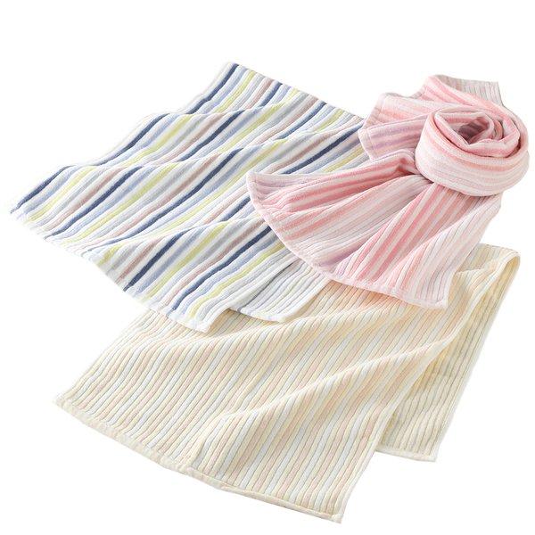 Stretch Color Stripe Hair Towel