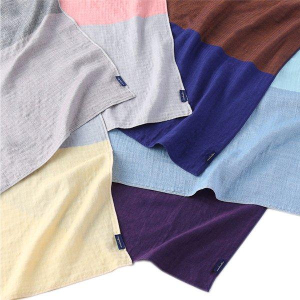 Marshmallow Gauze Colour Block Shawl