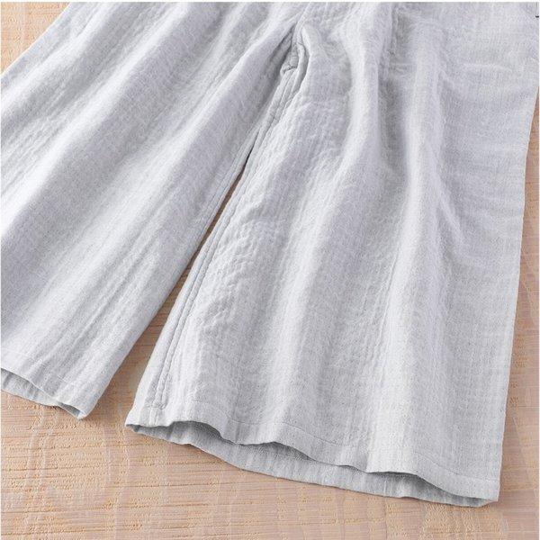 Marshmallow Gauze Ladies Chambray Gaucho Pants