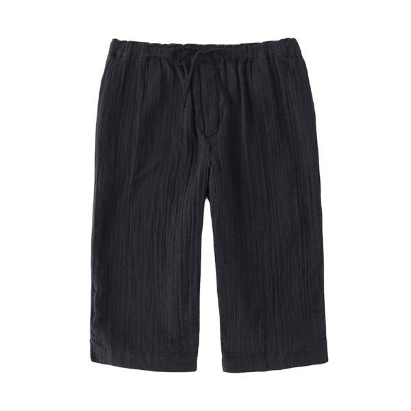 Crepe Gauze Mens Quarter Pants