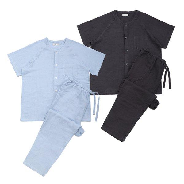 Marshmallow Gauze Men' s Short Sleeve Pyjamas