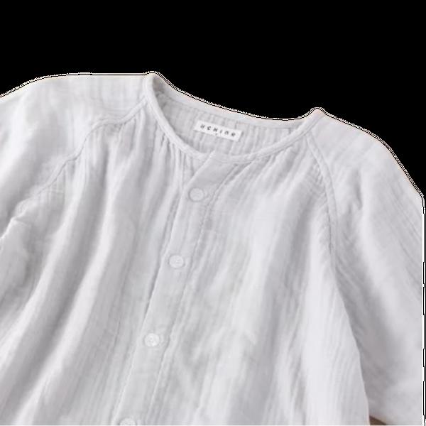 Crepe Gauze Men's Short Sleeve Pajamas