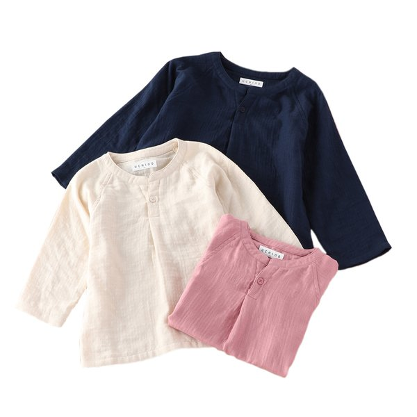 Marshmallow Gauze Kids Long sleeve T