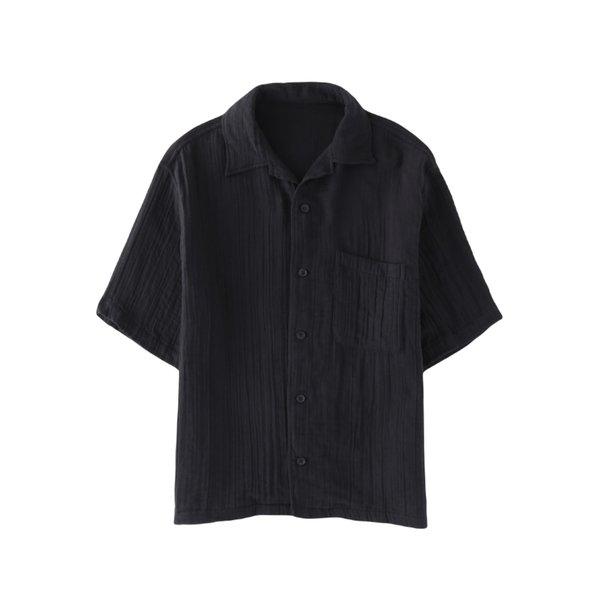 Crepe Gauze Mens Open Color shirt