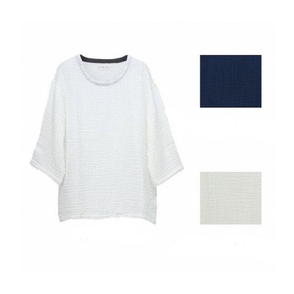 Crepe Gauze Men's 3/4 Sleeve Top