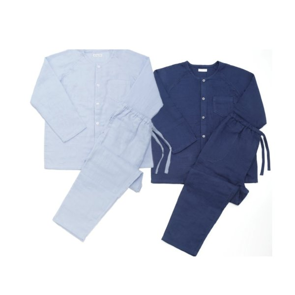 Marshmallow Gauze Men's Collarless Pyjamas