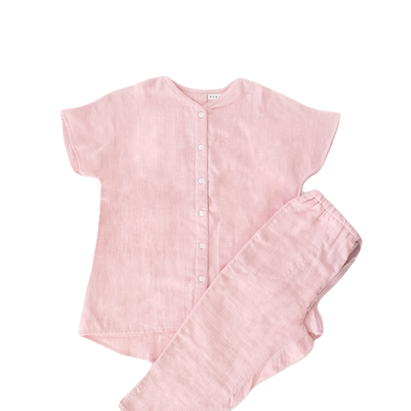 Marshmallow Gauze Ladies Short Sleeve Pyjamas